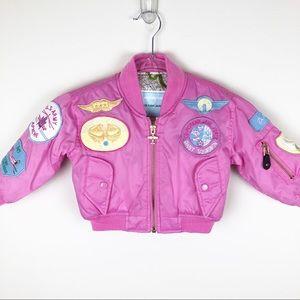 Other - Girls Boeing Flight Jacket- Pink bomber jacket 2T